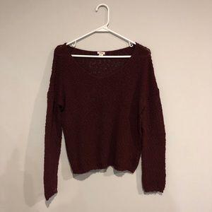 Burgundy Light Sweater